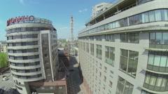 Facade of Hotel and Business center Borodino Plaza Stock Footage