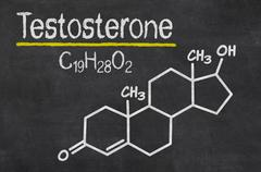 Stock Illustration of blackboard with the chemical formula of testosterone