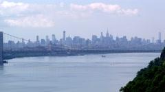 XWS of New York City and the George Washington Bridge - stock footage