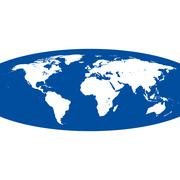 spherical vector world map - stock illustration