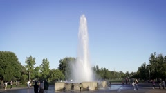 Large Water Fountain Gushing up into the Sky Stock Footage