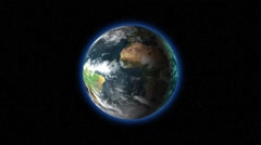 Rotating romantic earth with atmosphere Stock Footage