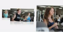 Flying Montage Presentation of a Fitness Centre - stock footage