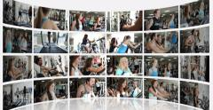 Not Moving Montage Presentation of a Fitness Centre Stock Footage