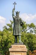 Monument of Stefan cel Mare in Chisinau, Moldova - stock photo