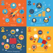 Modern web concepts set Stock Illustration