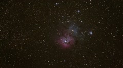 Deep Space Nebula and Stars - slow zoom in - stock footage