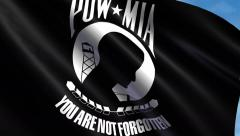 POW/MIA Flag Animation  – 4K Resolution Ultra HD Stock Footage