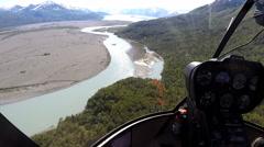 Aerial Alaska Knik Glacier Knik River USA Stock Footage