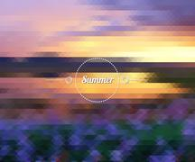 Abstract lavender sunset Stock Illustration