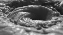 4K Close up of liquid swirl animated loop. seamless loop. Stock Footage