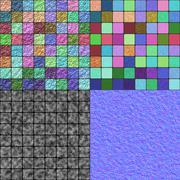 Stock Illustration of Glazed tiles seamless generated texture (with diffuse, bump and normal map)
