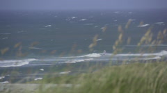 Windy Ocean in Denmark Stock Footage