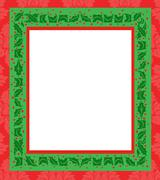 Stock Illustration of holly frame