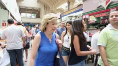 Municipal Market (Mercado Municipal) in Sao Paulo - stock footage