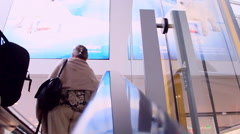 Tourists at airport station Stock Footage