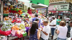 Municipal Market (Mercado Municipal) in Sao Paulo Stock Footage