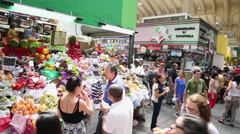 Municipal Market (Mercado Municipal) in Sao Paulo Stock Footage