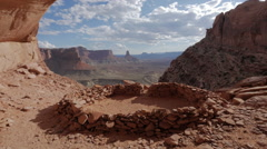 Canyonlands National Park False Kiva HD Version FULL SHOT - stock footage