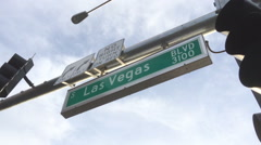 Street sign for South Las Vegas Boulevard Stock Footage