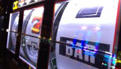 Casino slot machine reels spinning Stock Footage