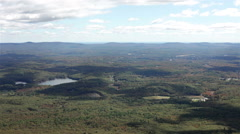 Landscape view from Mount Monadnock Stock Footage