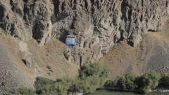 Base Jumper Off of Perrine Bridge, Twin Falls, ID Stock Footage