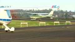 Cessna 172 Skyhawk Aircraft Taxi Out Stock Footage