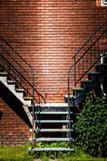 symmetrical staircases - stock photo
