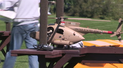 RC radio controlled aircraft and drone hobby Stock Footage