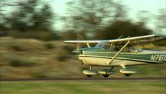 Cessna 172 Skyhawk Aircraft Touch and Go Stock Footage