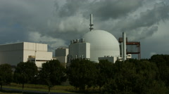Nuclear power station Brokdorf Stock Footage