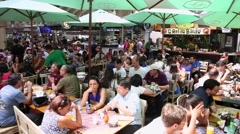 People eating at Municipal Market (Mercado Municipal) in Sao Paulo. Stock Footage