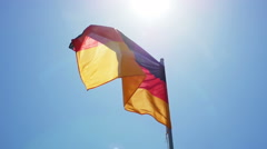 Silky flag of Germany flying in the wind - stock footage