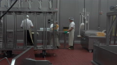Cheese manufacture volunteers working for charity 4K 021 Stock Footage