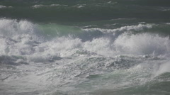 Storm at the Sea in Denmark slowmotion6 Stock Footage