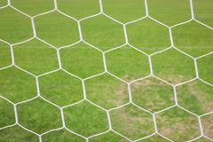 Soccer goal nets Stock Photos