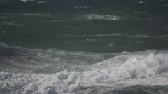 Storm at the Sea in Denmark slowmotion4 Stock Footage