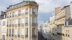 Classic paris palace building 4k uhd Stock Footage