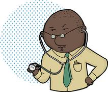 Serious male doctor Stock Illustration