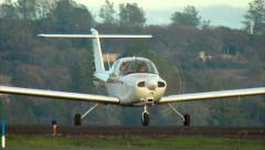 Piper PA-38 Tomahawk Taxi Stock Footage