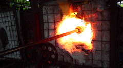 GLASS BLOWING MAKING AFRICA Stock Footage