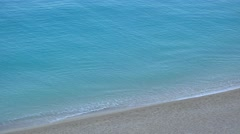 Beautiful beach, turquoise water waving, peaceful seashore 4K Stock Footage
