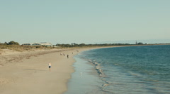 Walking Along Coogee Beach in Perth, Western Australia Stock Footage