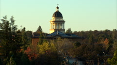 Placer County Courthouse Zoom Out Stock Footage
