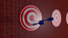 Arrows Shooting Target Darts 02 Stock Footage