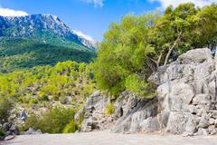 Serra de Tramuntana - Mountains Range on Mallorca, Balearic Islands, Spain Stock Photos
