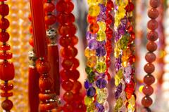 handmade colorful beads - stock photo