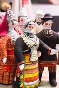 handmade dolls - stock photo