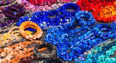 Handmade colourful necklaces Stock Photos